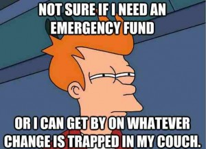 emergency fund meme
