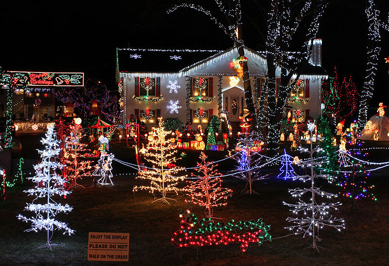 Christmas Holiday Lights House