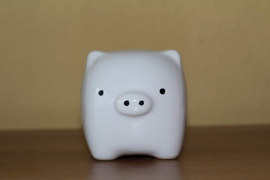 Piggy Bank White Ceramic